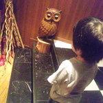 ダノイ高輪 - ホテル側への出入り口のところにフクロウが!(2011.07)