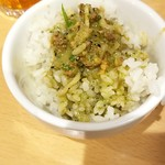 東京担々麺 RAINBOW - ご飯にスープをかけて