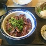 T.Bone - カルビ丼 + ミニサラダ