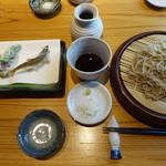 浜町かねこ - 稚鮎天ざる(1500円)