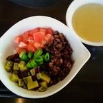 Restaurant μ - キッズジャージャー丼と付属のスープ