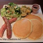 カフェアンジェ - 料理写真:ランチ お食事パンケーキ