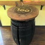 銀座バー GINZA300BAR 銀座5丁目店 - ワイン樽のテーブルが良い感じ
