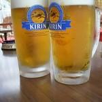 やなの元祖 岡本観光やな - 生ビール