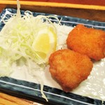まるさ水産 - まるさ日替わり定食 880円(税別)の 烏賊フライ。     2018.06.30
