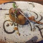 串カツとワイン 海山 - 帆立と青梗菜のチリソース