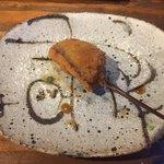串カツとワイン 海山 - 椎茸のエビ詰め