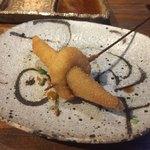 串カツとワイン 海山 - ミョウガと小エビ