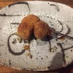 串カツとワイン 海山 - 豚の角煮と煮卵