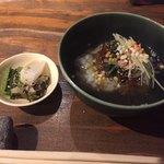 串カツとワイン 海山 - あさりの佃煮のお茶漬け
