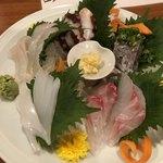 浜ふじ - 刺身中皿5種盛り合わせ