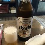 旨居屋 新八 - 「瓶ビール」大瓶。419円也。昼の価格。