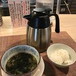セアブラノ神 壬生本店 - 締めの割りスープ&ご飯