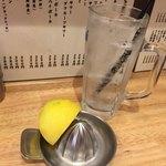 かぶら屋 - 生レモンサワー 350円