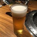 清江苑 - ランチビール('18/07/01)