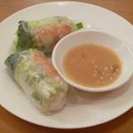 ベトナム食堂フォー・ホア - 海老と豚肉の生春巻き (ゴイ・クオン)