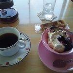 タイムアウトカフェ - レアチーズケーキセット