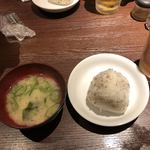 やまじん - ライスと味噌汁