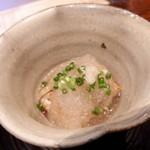 与志福 - 豆乳くず豆腐 煮穴子 おろし