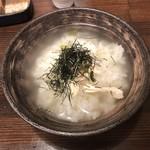 鶏の三平 - 鶏だし茶漬け(完成形)