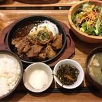 kawara CAFE&DINING -FORWARD- - 料理写真:牛カルビ焼肉と10品目の野菜サラダ定食 ¥1,280