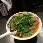 カラシビ味噌らー麺 鬼金棒 - パクチー盛り