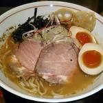 麺と心 7 - 料理写真:【(限定) 冷やし雲丹ラーメン + 味玉】¥950 + ¥120