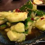 鉄なべ - 胡瓜のしばき