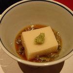 京料理 春神 - ごま豆腐とじゅんさい