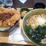 大戸屋 - 料理写真:チキンカツ丼とお蕎麦790円