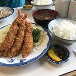 三春屋 - エビフライ定食 1750円