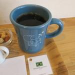 珈琲や - 自家製 水出し珈琲ゼリーのセット、ハンドドリップコーヒー(ブラジル ブルボン アマレーロ)と3