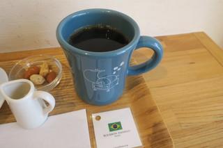 珈琲や 三鷹店 - 自家製 水出し珈琲ゼリーのセット、ハンドドリップコーヒー(ブラジル ブルボン アマレーロ)と3