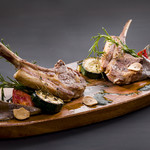 骨付子羊と彩野菜のロースト