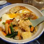 和味餃子 - 餃子丼(白)
