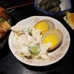 鳥みつ - 煮玉子(ポテトサラダ付き)
