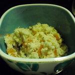 柔製麺 - 定食のおかず、オカラです。結構なボリューム、でもオカズにはちょっと…