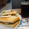 カフェ ド クリエ - 料理写真:2つのサンドエビアボカドとツナセット