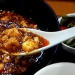 中国料理 天蘭 - 麻婆豆腐 辛旨いです。(^0^;)