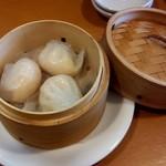 中国料理 天蘭 - 海老蒸し餃子  もちもち、ぷりぷり(●^o^●)