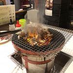 七輪焼き やました - 焼き台