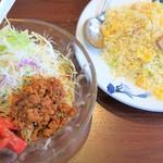 七左食堂 - 料理写真:冷やしタンタン麺+玉子チャーハン
