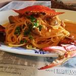 マーロウ 本店 - 蟹が泡を吹いているイメージ