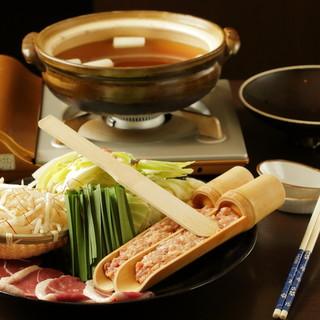 名物「鴨亭鍋」ゆず胡椒香るつくね鍋
