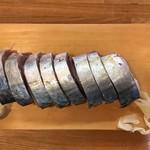 榮寿司 - 鯖棒鮨(上から)