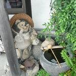 狐狸庵 - 信楽の置物さま、ご訪問記念
