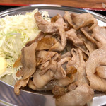 鉄板焼 京都 梅しん - 南国フルーツポークの豚バラ定食(600円)
