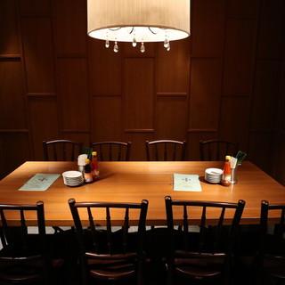 テーブル個室を用意しています!!