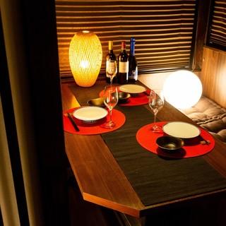 【完全個室】温もりに満ちた和風デザイン個室は2名様~ご案内!