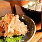 渋谷 牡蠣入レ時 - カンパチのなめろう(丸投げコース2品目)